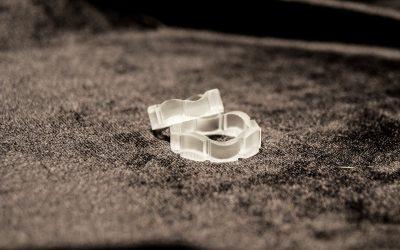 Glas-3D-gedruckte Eheringe